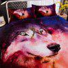 3D Starry Wolf Explosive Three-Piece Bedding set -