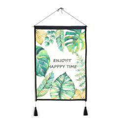 Leaves Background Decoration Cloth Art Hanging Print -