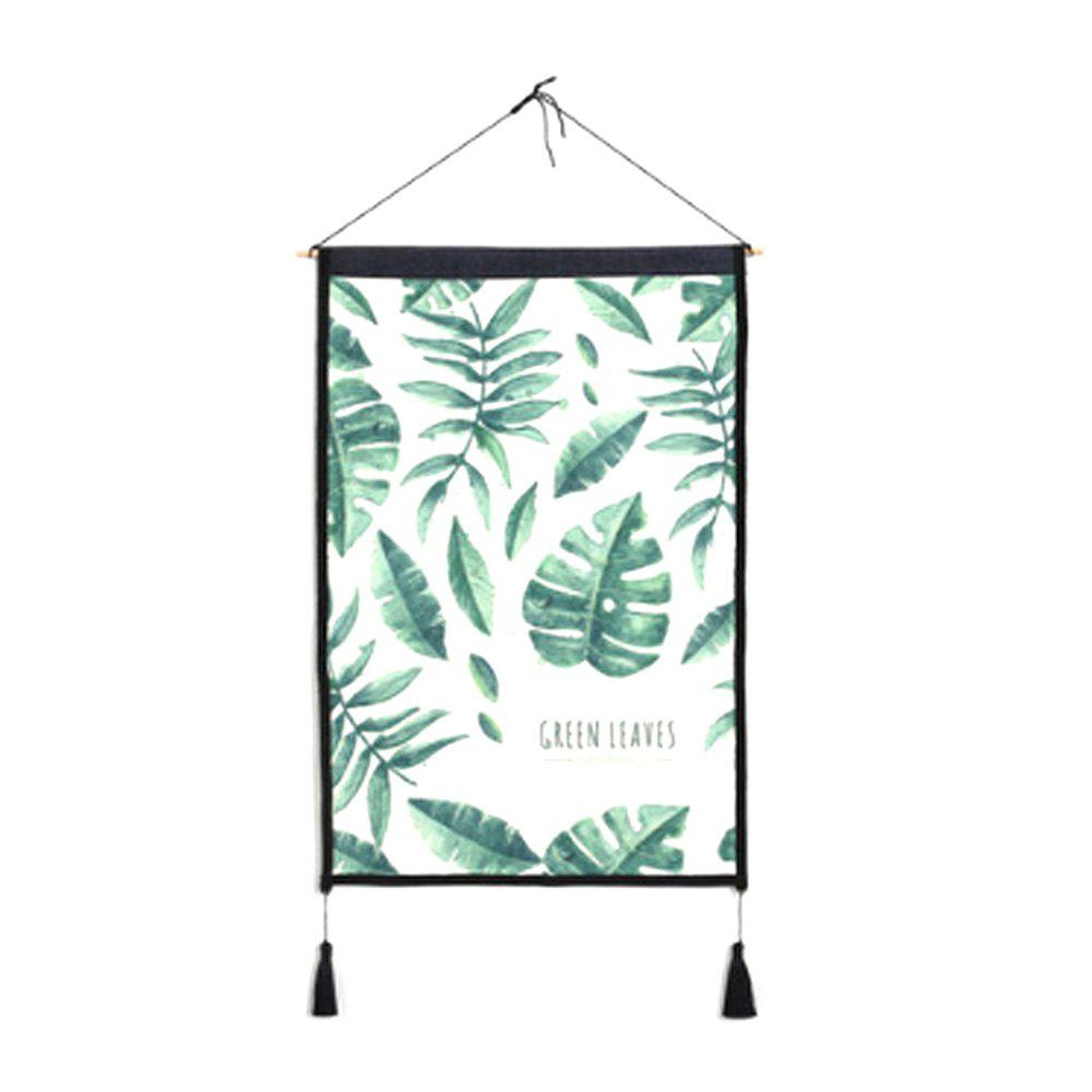 Sale Leaves Background Decoration Cloth Art Hanging Print
