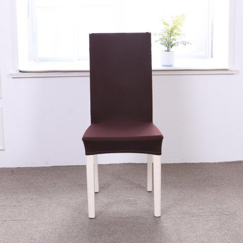 Fancy Concise Siamesed Chair Cover of Pure Color for Common Use