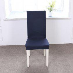 Concise Siamesed Chair Cover of Pure Color for Common Use -