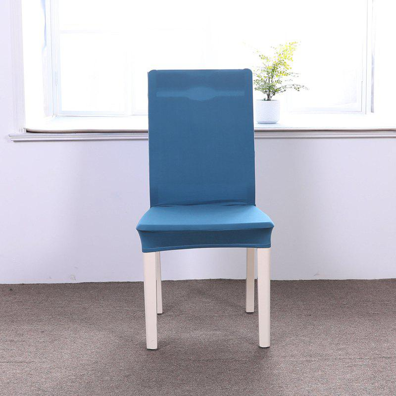 Chic Concise Siamesed Chair Cover of Pure Color for Common Use