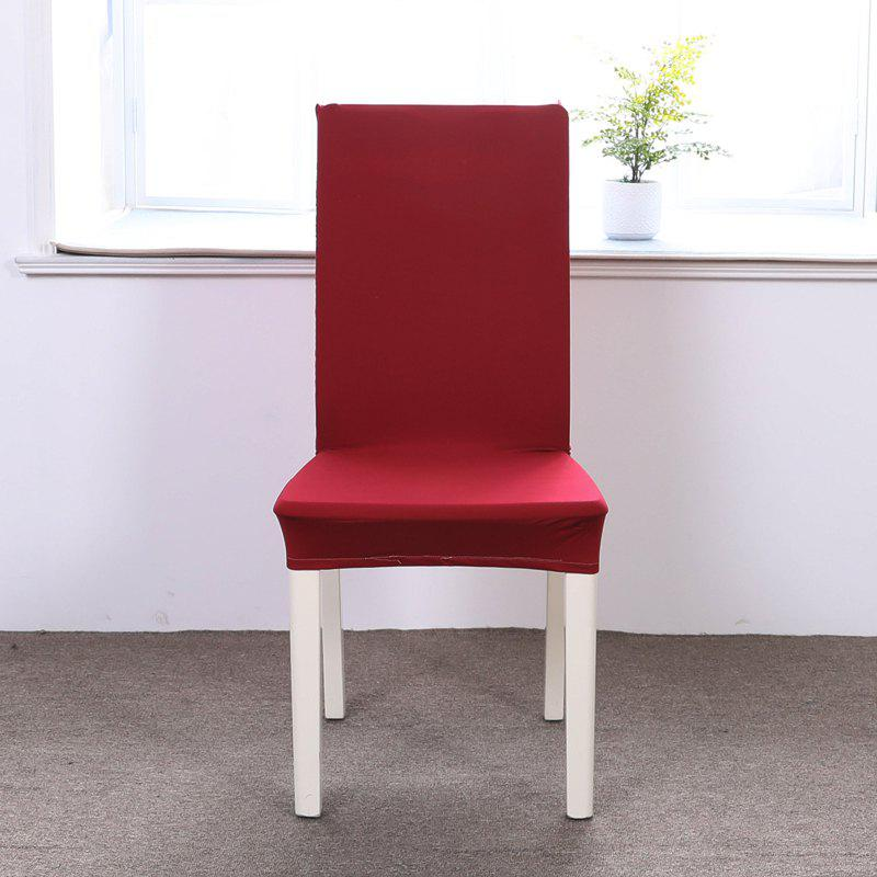 Best Concise Siamesed Chair Cover of Pure Color for Common Use