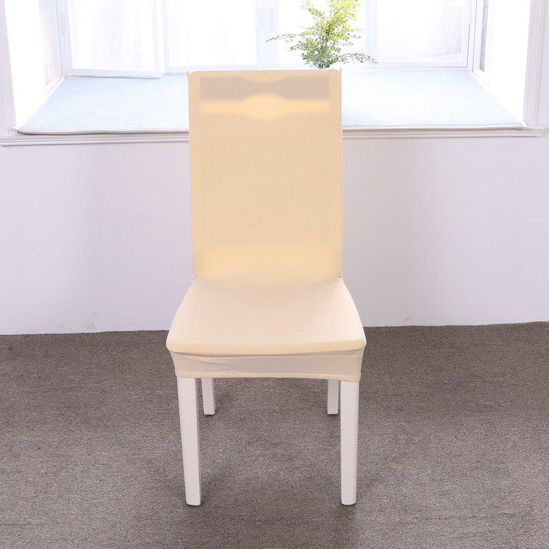 Discount Concise Siamesed Chair Cover of Pure Color for Common Use