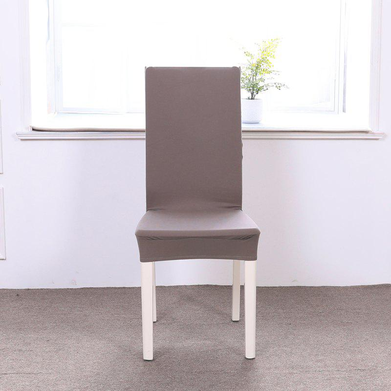 Shop Concise Siamesed Chair Cover of Pure Color for Common Use