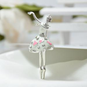 Ballet Dancer Ballerinas Brooches for Women Girls Scarf Coat Pins Hats Corsages -