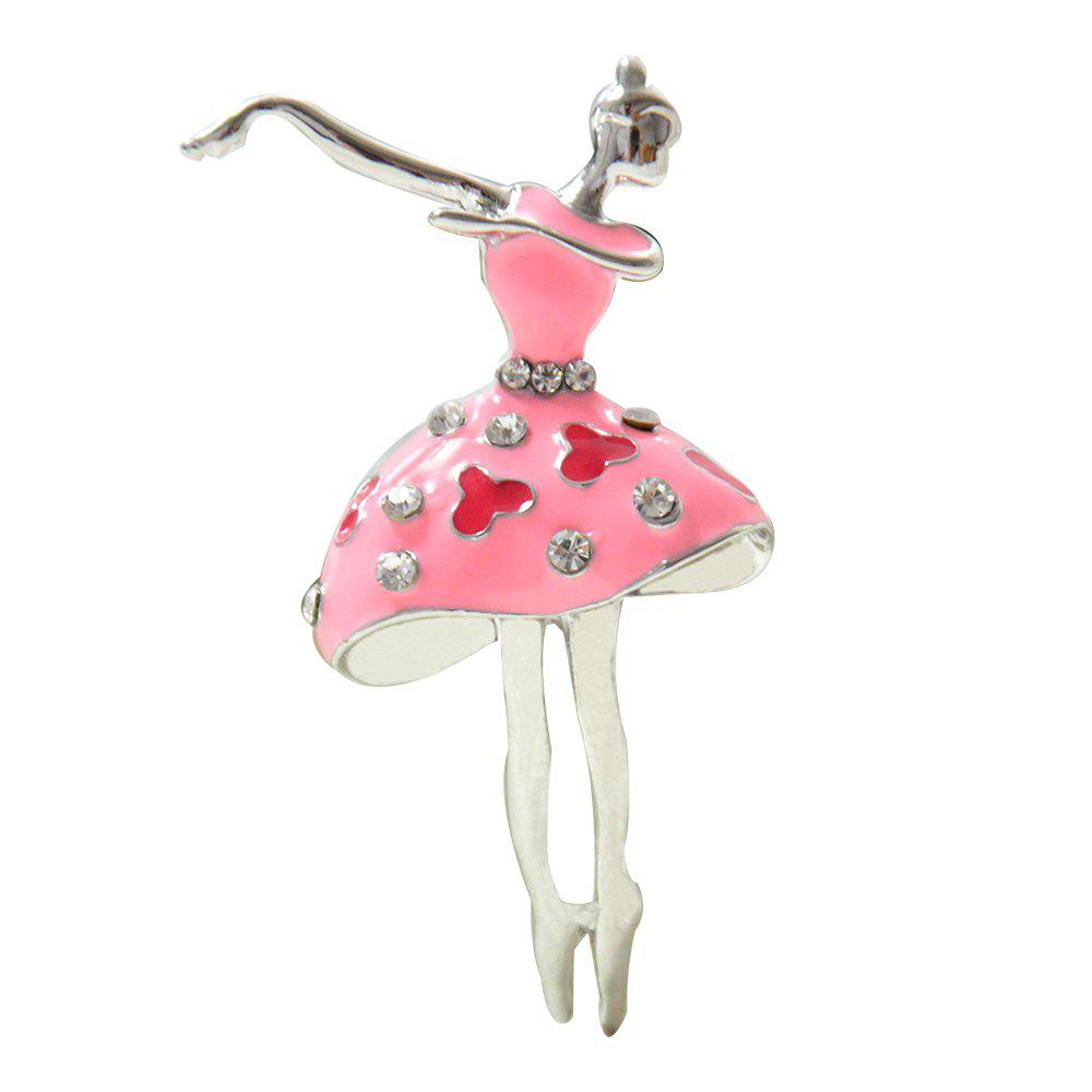Cheap Ballet Dancer Ballerinas Brooches for Women Girls Scarf Coat Pins Hats Corsages