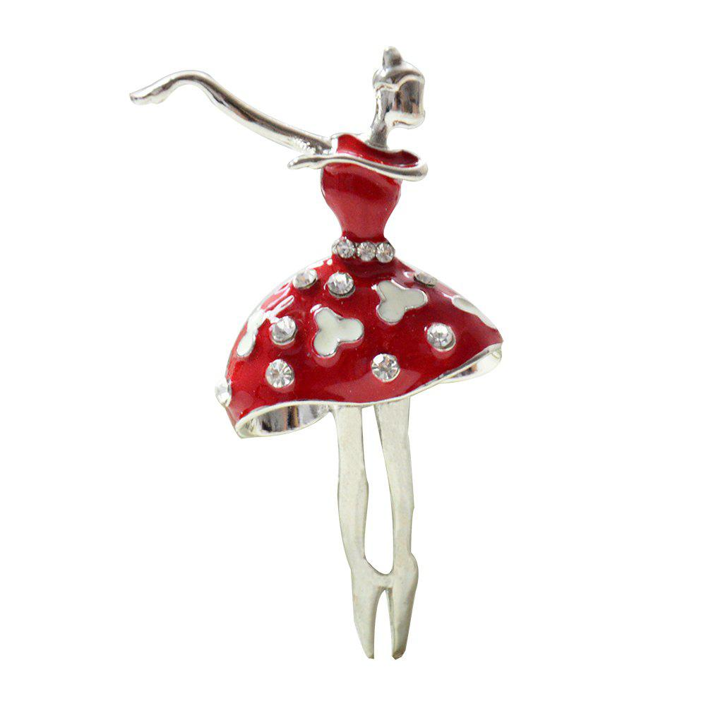 Trendy Ballet Dancer Ballerinas Brooches for Women Girls Scarf Coat Pins Hats Corsages
