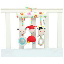 Plush Crib Stroller Rattles Around Baby Cute Farm Animals Plush Toys -