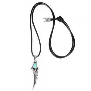 Fashion Accessories Angel Wings Turquoise Necklace -