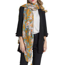 Women Long Muffler Cotton Linen Shawls Scarf -
