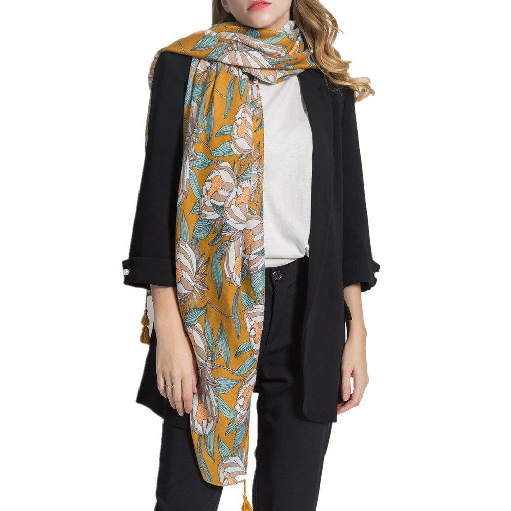 Fashion Women Long Muffler Cotton Linen Shawls Scarf