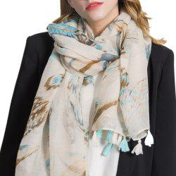 Cotton and Linen Scarf Printing Warm Shawl -