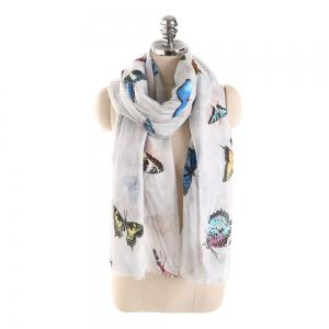 Coloured Big Butterfly Scarf -