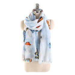 Grand foulard de papillon coloré -