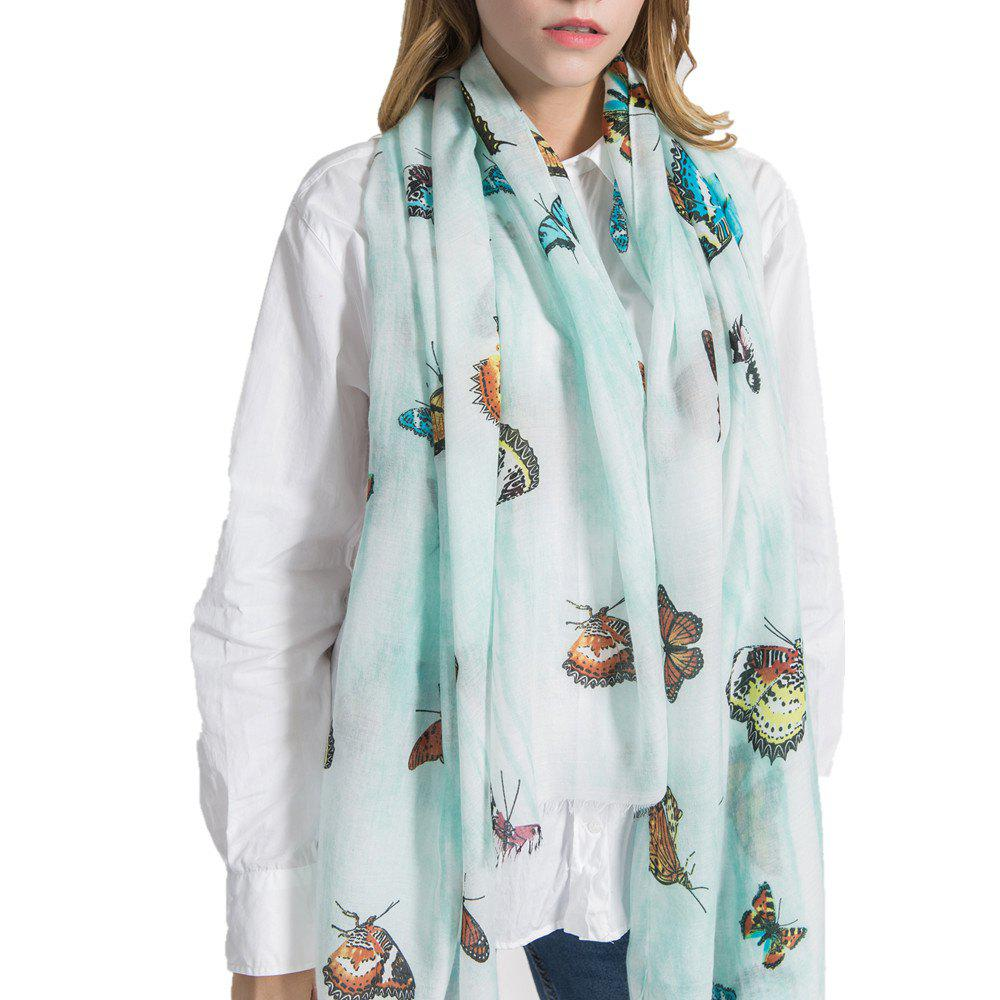Chic Coloured Big Butterfly Scarf