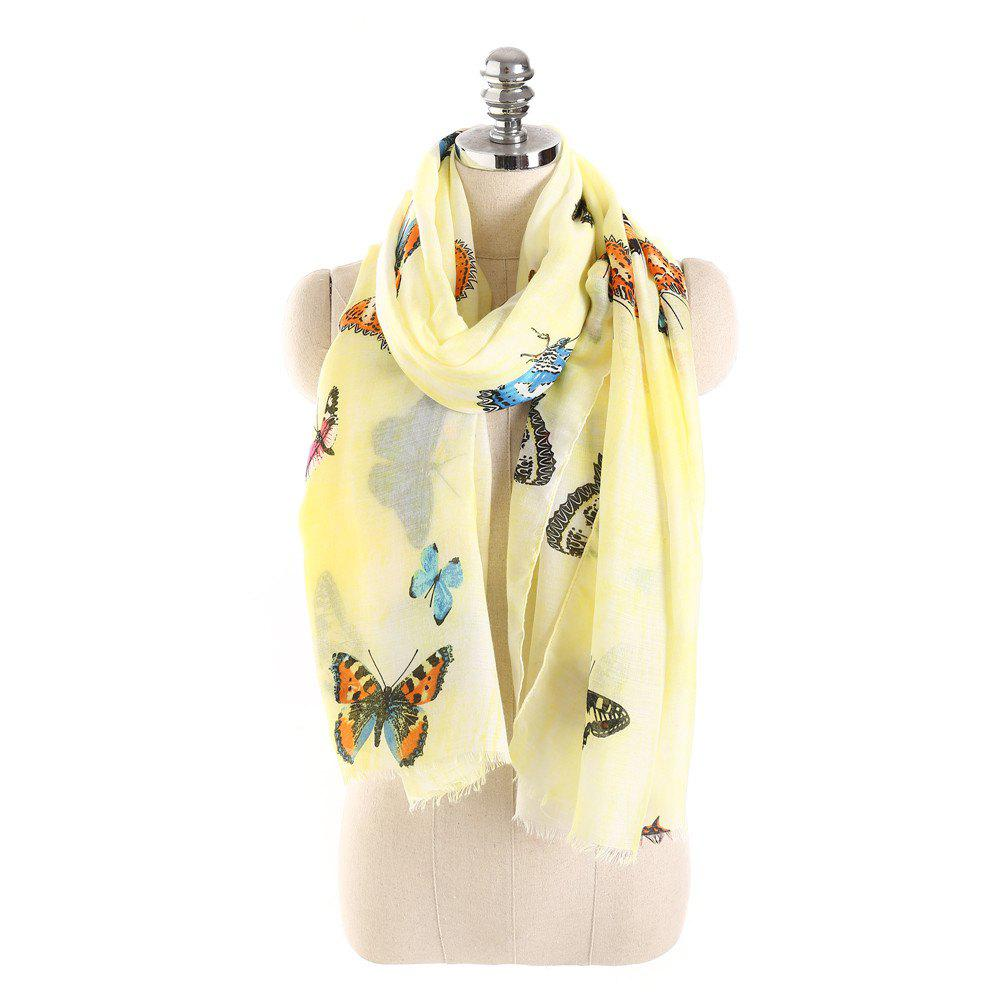 Store Coloured Big Butterfly Scarf