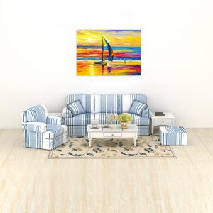 W357 Sailboat Unframed Art Wall Canvas Prints for Home Decorations -