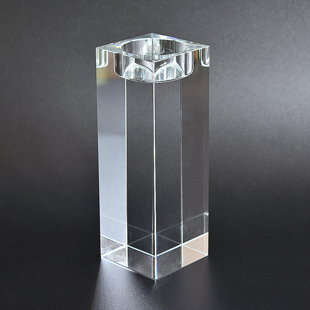 Hot European Style Candle Crystal Glass Home Furnishing Candlestick Decoration