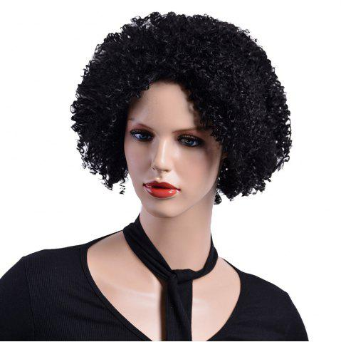 Cheap African Afro Curly Black Synthetc Hair Natural Looking Fashion Fluffy Wig