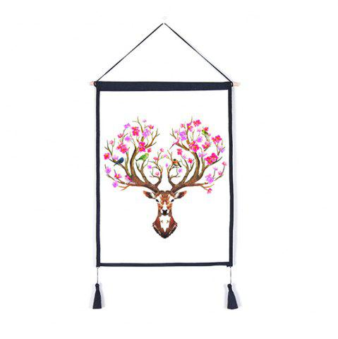 Latest Antler Flower Decoration  Background Hanging Cloth Print