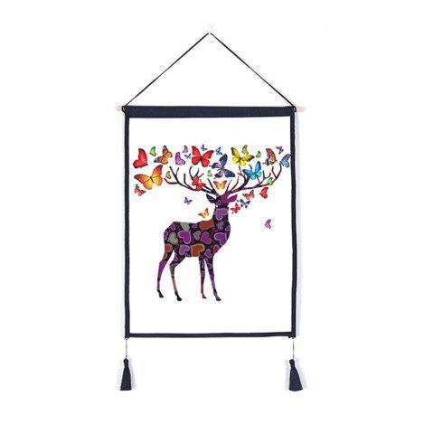 Outfits Antler Flower Decoration  Background Hanging Cloth Print