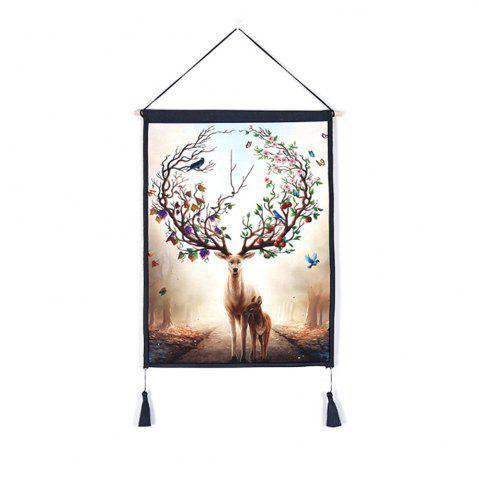 Unique Antler Flower Decoration  Background Hanging Cloth Print