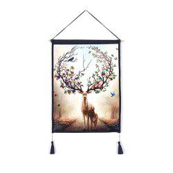 Antler Flower Decoration  Background Hanging Cloth Print -