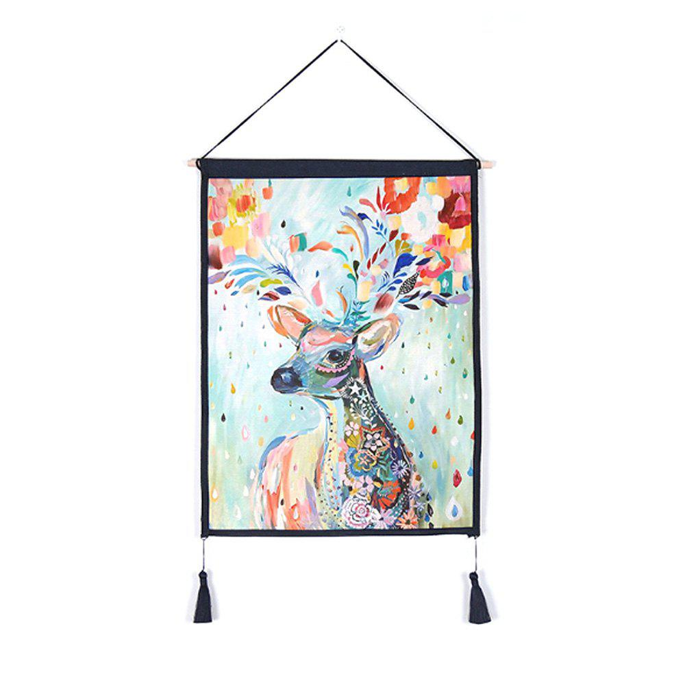 Best Antler Flower Decoration  Background Hanging Cloth Print