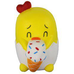 Jumbo Squishy Yellow Chick Toys -