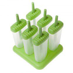 6Pcs réutilisable Popsicle moules glace font -