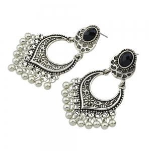 Metal Beads Geometric Dangle Earrings -