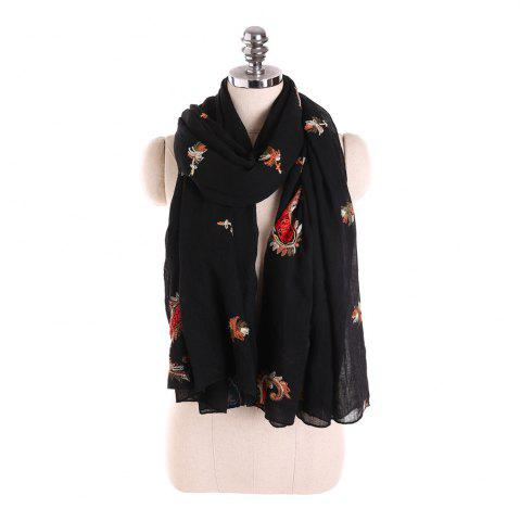 Hot Long and Comfortable Scarf in Cashew Flowers and Linen