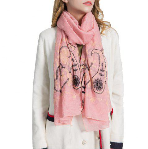 Affordable Willow Branch Cashew Flower Warm Cotton Linen Scarf