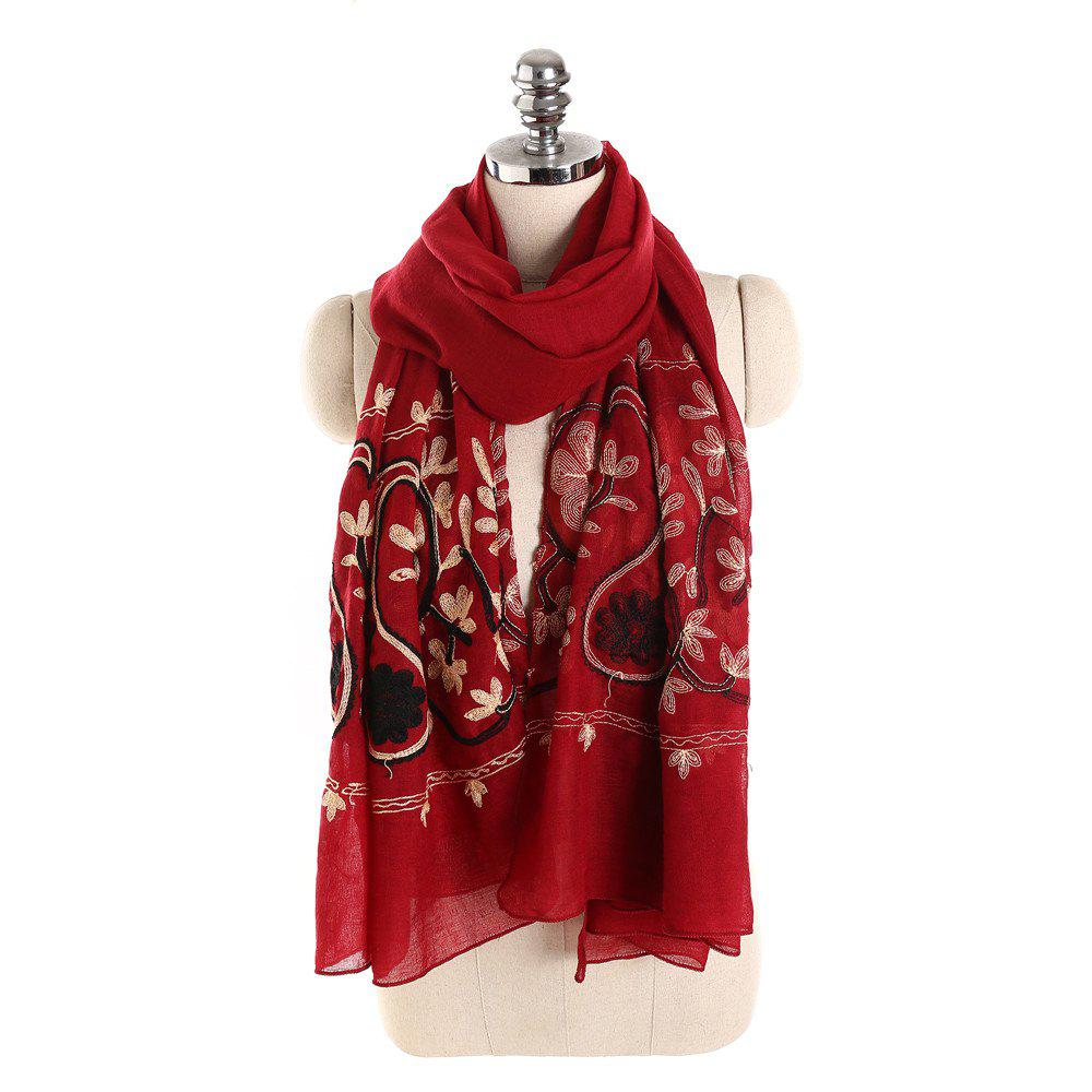 Fashion Willow Branch Cashew Flower Warm Cotton Linen Scarf