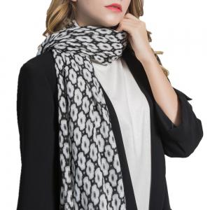 Geometric Figure Personalized Warm Cotton and Hemp Tassel Scarf -