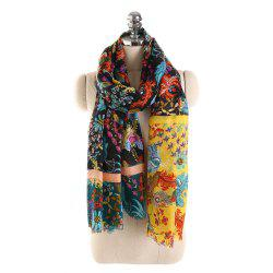 Graceful Linen Tassel Scarf -