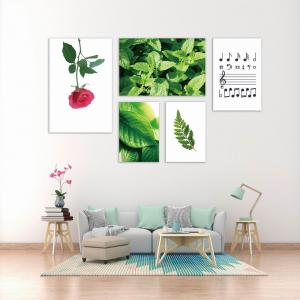 W371 Plants Unframed Wall Canvas Prints for Home Decorations 5PCS -