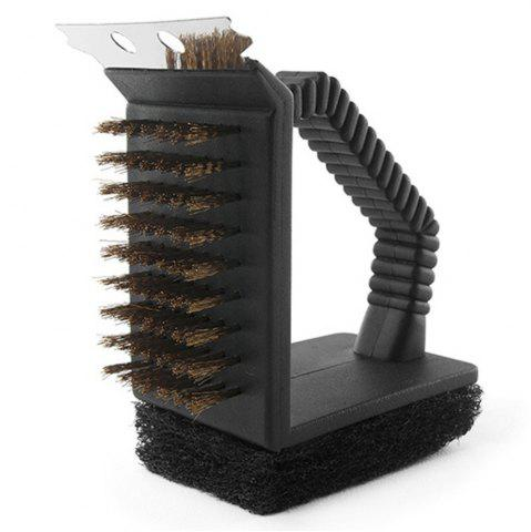 Affordable Triple Barbecue Grill Brush Copper Steel Cleaning Brushes  Accessories