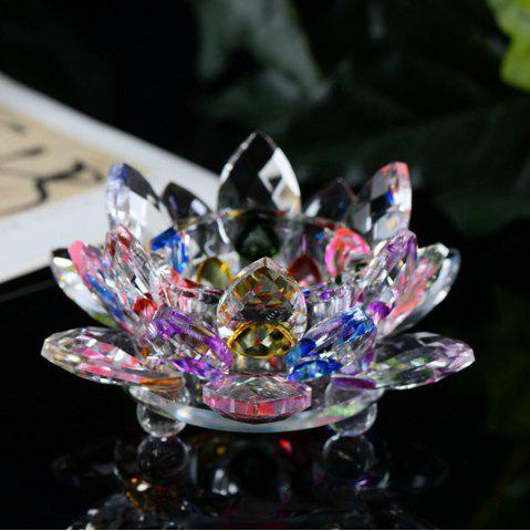 Discount Exquisite Crystal Glass Lotus Candlestick