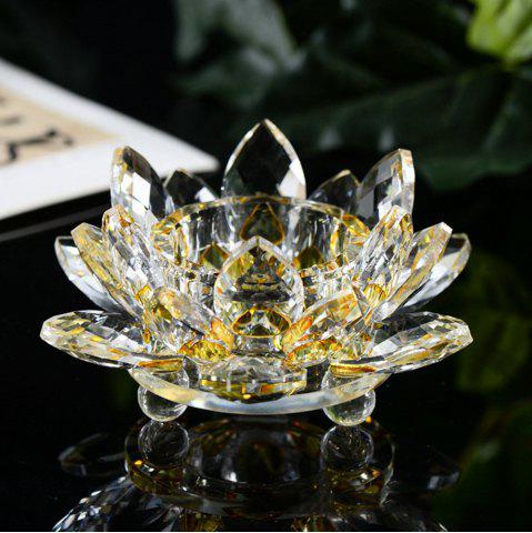 Affordable Exquisite Crystal Glass Lotus Candlestick
