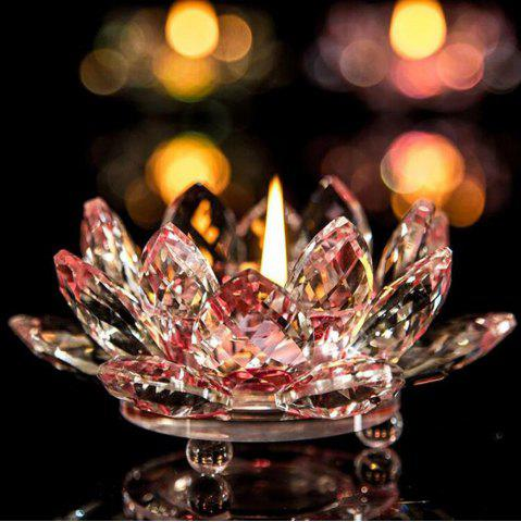 Shop Exquisite Crystal Glass Lotus Candlestick