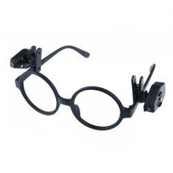 2PC Portable Clip On Eye Glasses Light Magnifier Reading LED Magnifying Glass -