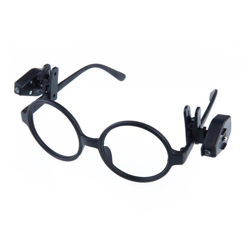 Hot 2PC Portable Clip On Eye Glasses Light Magnifier Reading LED Magnifying Glass