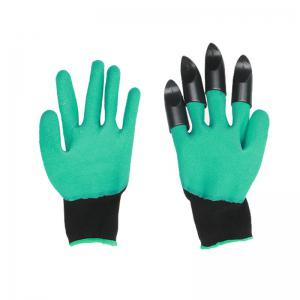 Garden Gloves With 4 ABS Plastic Claws -