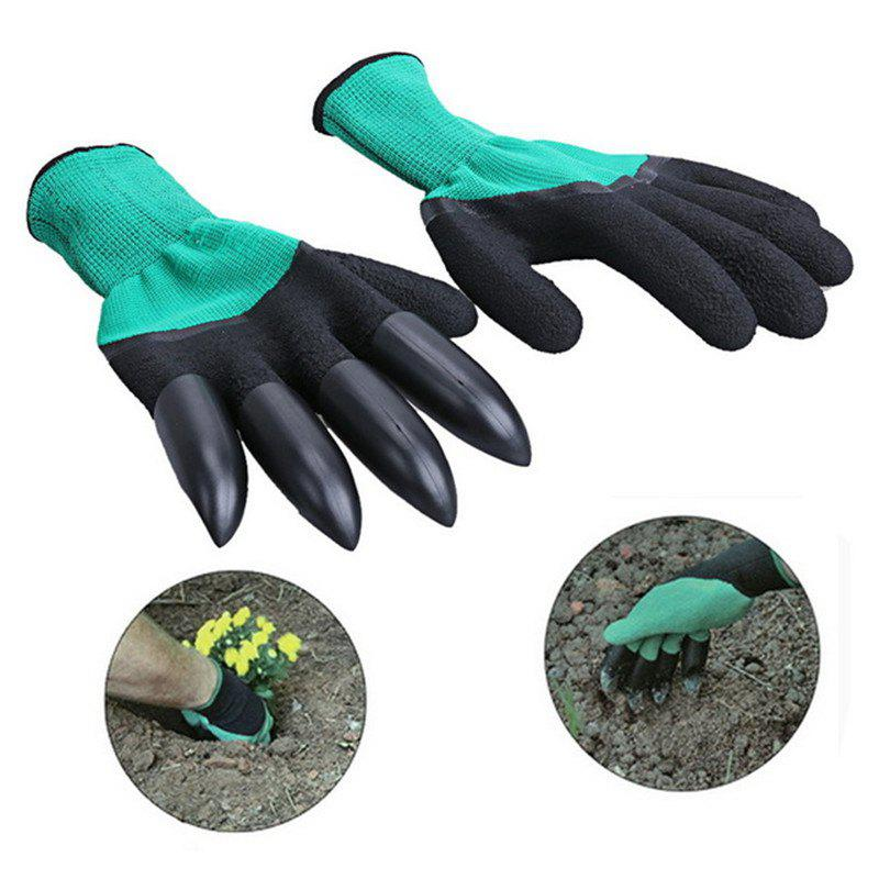 Cheap Garden Gloves With 4 ABS Plastic Claws