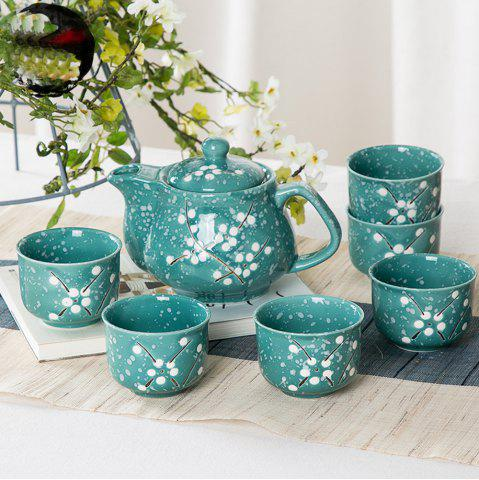 Shop 7PCS Sweet Floral Hand Painted Ceramic Teapot Set