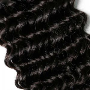 Natural Black Deep Wave Brazilian Virgin Human Hair Weave Extensions 1pc -