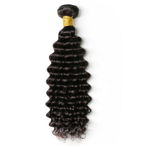 Store Natural Black Deep Wave Brazilian Virgin Human Hair Weave Extensions 1pc