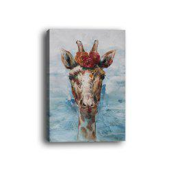 Framed Canvas Modern Living Room Bedroom Giraffe Decorative Print -
